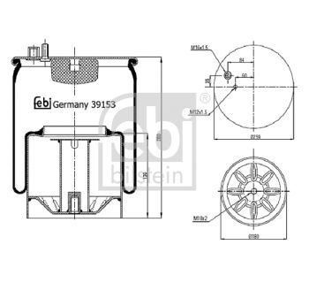 Soufflet à air, suspension pneumatique FEBI BILSTEIN 39153
